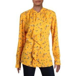 Ralph Lauren blouse chiffon ruffle floral print